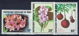 Benin, Flowers 1981, MNH VF  Complete Set Of 3 - Benin - Dahomey (1960-...)