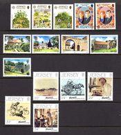 Jersey 1986, N°372 à 386, 4 Séries Complètes Neuves**/Obl. TB 3 € (cote 22,75 €, 15 Valeurs) - Jersey