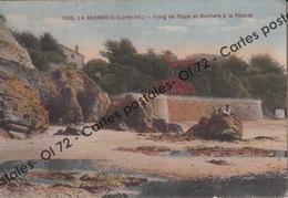 CPSM - Loire Atlantique - La Bernerie-en-Retz - Fond De Plage Et Rochers à La Patorie - Animée - La Bernerie-en-Retz