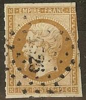 France-N°13 Oblitéré Petit Chiffre - 1853-1860 Napoleon III