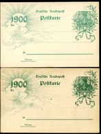 DR P43 II Aae  2 Postkarten Farbnuancen ** 1899  Kat. 4,00 € - Deutschland