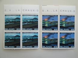 1975 Islande  Yv  453/4 X 4 **  Volcan Heimaey Scott 476/7  Michel 500/1 SG 531/2 Facit 537/8 - 1944-... Republique