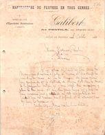 Document Du 04/10/1910 GALIBERT Feutres En Tous Genres - Le Pontil Par Arques  11 - France