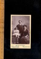 Photographie CdV : Famille Couple Fillette / Photographe Louis TALY Anc. BLAIN 13 Côte Cordeliers ROMANS Drôme - Persone Anonimi