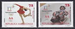 Macedonia 2018 Winter Olympic Games PyeongChang, South Korea, Figure Skating, Sledding, Sport, Set MNH - Other