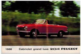 PEUGEOT 204 COUPE ET CABRIOLET CATALOGUE 3 VOLETS 1968 Format A4 FRANCE - Publicités