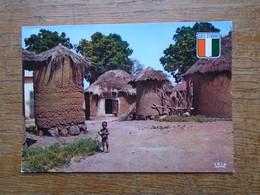 """Côte D'ivoire , Village Sénoufo """" Carte Animée Enfant """""""" Beau Petit Timbre """""""" - Ivory Coast"""