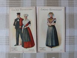 2 Chromos, Cacao Bensdorp, Costumes Du Pays-Bas. - Chocolat