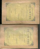 Conversations De Goethe Pendant Les Dernières Années De Sa Vie. Recueillies Par Eckermann, 2 Vol. - Libri, Riviste, Fumetti