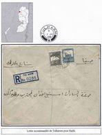 Palestine Palastina Cisjordanie Lettre Recommandée Registered Cover Carta Belege Tulkarem 1948 Haifa - Palestine