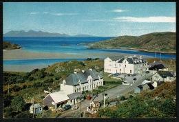 RB 1191 - J. Arthur Dixon Postcard Morar Village Post Office & Telephone Box & Island Of Rum Scotland - Inverness-shire
