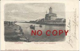 Ravenna, Porto Corsini Col Semaforo, 1908. Autografo Guerrini Giovanni, Architetto, Pittore. - Autographes