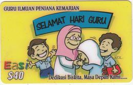 BRUNEI - Selamat Hari Guru, DST Recharge Card $40, Exp.date 21/08/06, Used - Brunei