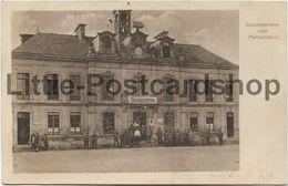 2 Foto AK Boult-sur-Suippe Soldatenheim Und Feldpostamt Rathaus Feldpost 1917 Mairie Kantine - Guerra 1914-18