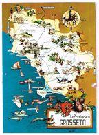 V1856 La Provincia Di Grosseto - Carta Geografica Map Carte Geographique / Non Viaggiata - Carte Geografiche