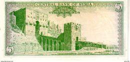 Syria P.94d  5 Pounds 1973 Unc - Syria
