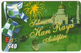 BRUNEI - Selamat Hari Raya, DST Recharge Card $40, Exp.date 22/10/06, Used - Brunei