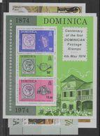 4 Hojas Bloque De Dominica Nº Yvert HB-24 A HB-27 (**). - Dominica (1978-...)