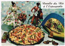 V1857 Recette Du Riz A L'Espagnole - Ricetta Recette Recipe / Non Viaggiata - Ricette Di Cucina