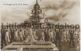 Foto AK SMS Kaiser Freiübungen An Deck Ca. 1915 Großlinienschiff Schlachtschiff Kaiserliche Marine Soldaten Beim Sport - Guerre 1914-18