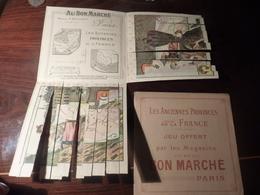 CHROMO Système Au Bon Marché Jeu Les Anciennes Provinces De La France  Laguedoc Dauphine Guyenne Nice - Au Bon Marché