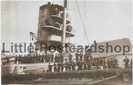Foto AK SMS Kaiser Kommandoturm Ca. 1915 Großlinienschiff Schlachtschiff Kaiserliche Marine Soldaten - Guerra 1914-18