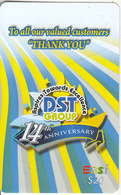 BRUNEI - 14th Anniversary DST Group, DST Recharge Card $20, Exp.date 19/03/11, Used - Brunei