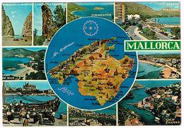 V1863 Mallorca - Carta Geografica Map Carte Geographique / Viaggiata 1975 - Carte Geografiche