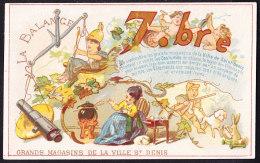 Belle Et Rare CHROMO  A La Ville De Saint-Denis Signe Astrologique La Balance, 7.bre   Lith. May & Deymarie  Zodiaqu - Autres
