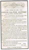 INGELMUNSTER - HALEN , Doodsprentje Van André Valère DEPREZ ( GESNEUVELDE) + 12 Mei 1940 - Images Religieuses
