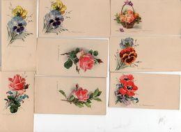 C Klein - X 8 Mini Carte Fleurs Pensée Coquelicot Rose (voir Descriptif - Klein, Catharina