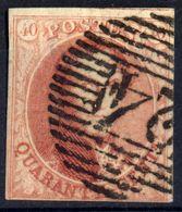 1851 - Nr 8 - Quarante Cents (°) Dun Papier - 1851-1857 Médaillons (6/8)