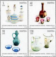 Albania - 2017 - Albanian National Craft - Glass Works - Mint Stamp Set - Albanië