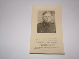 Militaire.Gilbert Lepropre Prisonnier Stalag XIII D Né à Rienne Mort Bombardement De Ansbach En 1945. - Décès