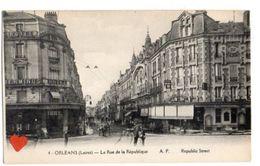 20606-LE-45-ORLEANS-La Rue De La République---------animée-attelages-commerces - Orleans