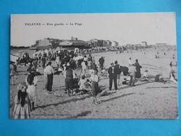 34 :PALAVAS Les FLOTS : RIVE GAUCHE , La PLAGE , C.P.A. ,carte En Très Bon état ,animée - Palavas Les Flots