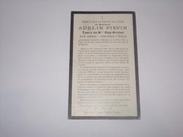 Décès De Adelin Pisvin Ancien Combattant.Garde Forestier à Willerzie Décédé à Rienne En 1923.Epoux De Olga Brichet. - Overlijden