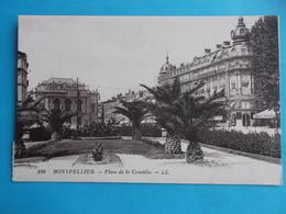 34 :MONTPELLIER : PLACE De La COMEDIE , C.P.A. ,carte En Très Bon état , - Montpellier