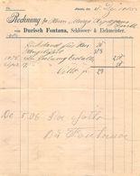 Durisch Fontana, Schlosser- Und Eichmeister, Ilanz Datiert 1905 - Suisse