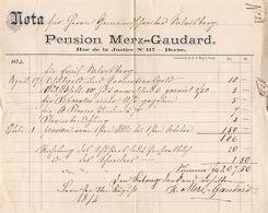 Pension Merz-Gaudard, Bern, Datiert 1874 - Suisse