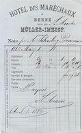 Hotel Des Marechaux, Bern, Müller Imhoof, Datiert 1884 - Suisse