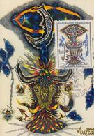 Carte   Maximum   1er   Jour   FRANCE  Oeuvre  De  Jean  LURCAT    AUBUSSON   1966 - Cartes-Maximum