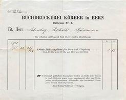 Buchdruckerei Körber, Bern, Datiert 1900 - Suisse