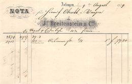 J. Breitenstein & Cie. Zofingen, Datiert 1859 - Suisse