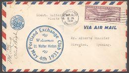 1931  May 4  Portland OR  Exchange Club  Welcomes Lieut Walter Hinton  Aviation Heroe - Air Mail