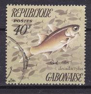 Gabon 1972 Mi. 566    40 Fr Fish Fische Poisson Galeoides Decadactylus - Gabun (1960-...)