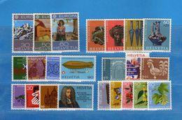 (Riz) Svizzera ** -1975 -  Annata Completa, Année Complète.- 23 Valeur .  MNH.  NEUF. Vedi Descrizione - Unused Stamps