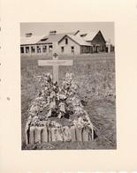 Foto Soldatengrab - Grab Eines Deutschen Soldaten - Russland - 2. WK - 5,5*4cm (33269) - Guerre, Militaire