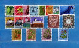 (Riz) Svizzera ** -1976 -  Annata Completa, Année Complète.- 18 Valeur .  MNH.  NEUF. Vedi Descrizione - Unused Stamps