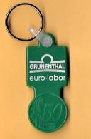 SHOPPING CART TOKEN / JETON DE CADDIE - GRUNENTHAL - EURO-LABOR / PORTUGAL / 01 - Trolley Token/Shopping Trolley Chip